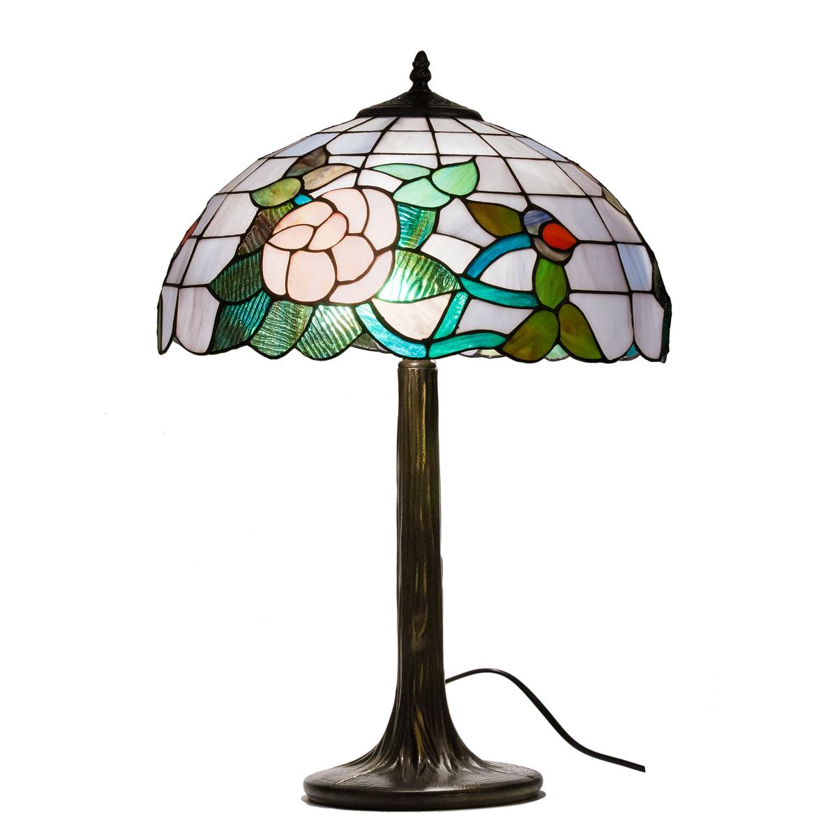 tischlampe tischleuchte lampe im tiffany stil bush rose 40 40x56cm ebay. Black Bedroom Furniture Sets. Home Design Ideas