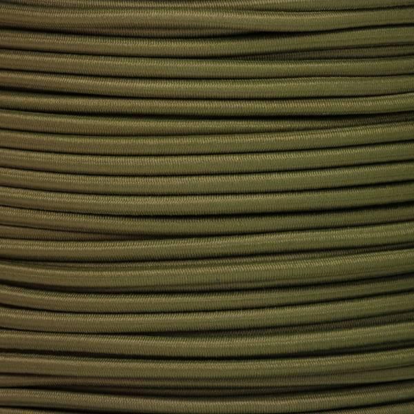 Gummikordel - Hutgummi - Rundgummi, hochwertig, extra-stark in 3mm, khaki