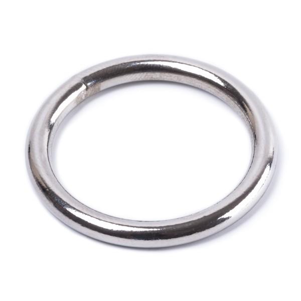 Rundring / O-Ring aus Stahl, geschweißt, vernickelt 3,5x25mm