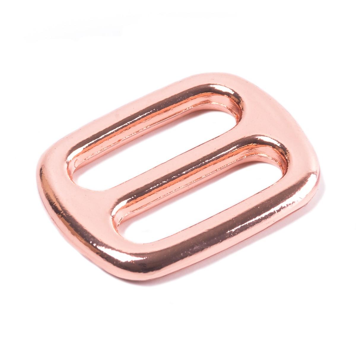Regulator, Schieber, Versteller aus Metall, roségold für 20mm Gurtband
