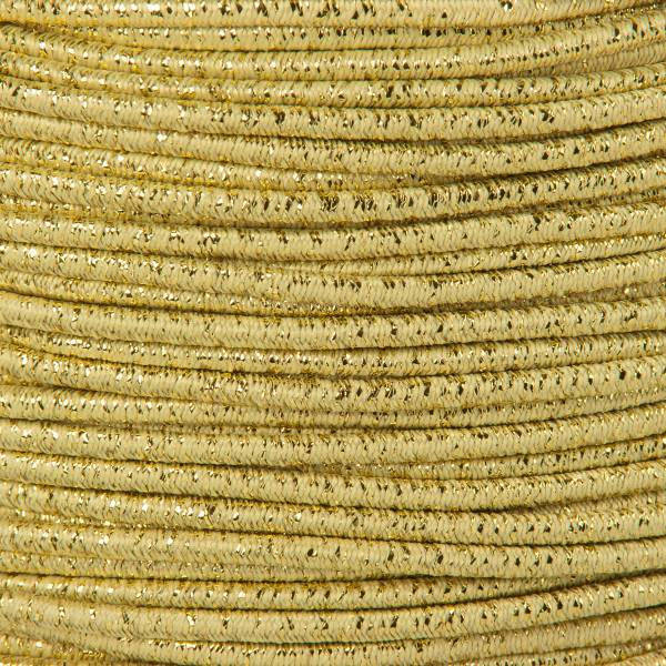 Gummikordel - Hutgummi - Rundgummi, hochwertig, extra-stark in 3mm, gold