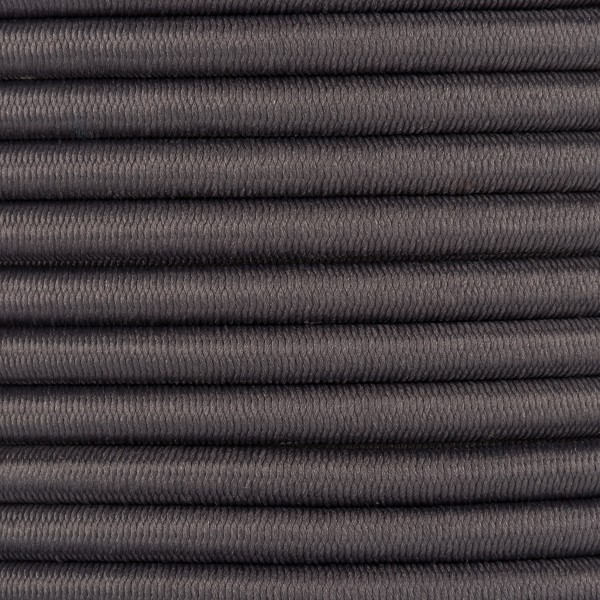 Gummikordel - Hutgummi - Rundgummi, hochwertig, extra-stark in 5mm, dunkelgrau