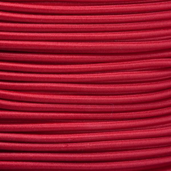 Gummikordel - Hutgummi - Rundgummi, hochwertig, extra-stark in 2,5mm, rot