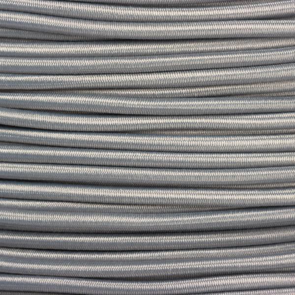 Gummikordel - Hutgummi - Rundgummi, hochwertig, extra-stark in 3mm, silbergrau