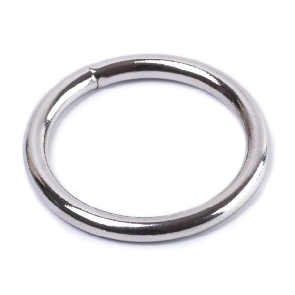 Rundring / O-Ring aus Stahl, geschweißt, vernickelt 4x30mm