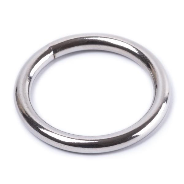 Rundring / O-Ring aus Stahl, geschweißt, vernickelt 3x20mm
