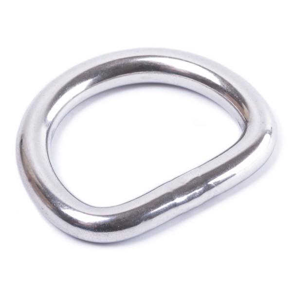 Sattler Halbring / D-Ring aus Metall - Edelstahl geschweißt, poliert 5x25mm