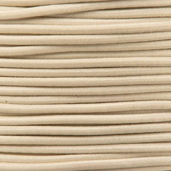 Gummikordel - Hutgummi - Rundgummi, hochwertig, extra-stark in 2mm, beige