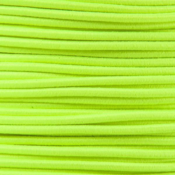Gummikordel - Hutgummi - Rundgummi, hochwertig, extra-stark in 2mm, neongelb