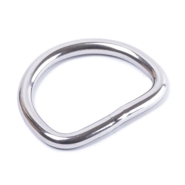 Sattler Halbring / D-Ring aus Metall - Edelstahl geschweißt, poliert 3x20mm