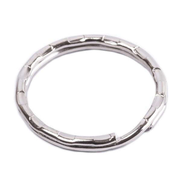 Schlüsselring Stahl verziert, verchromt, 25mm Innen - 2,1mm stark