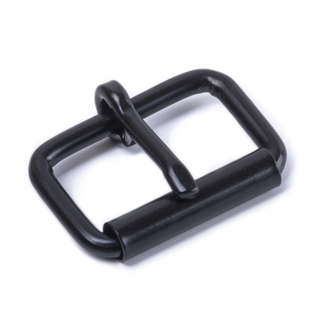 Stabile Rollschnalle aus Stahl, schwarz für 25mm Gurt-/Lederband