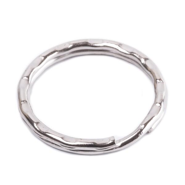 Schlüsselring Stahl verziert, verchromt, 21mm Innen - 2,1mm stark