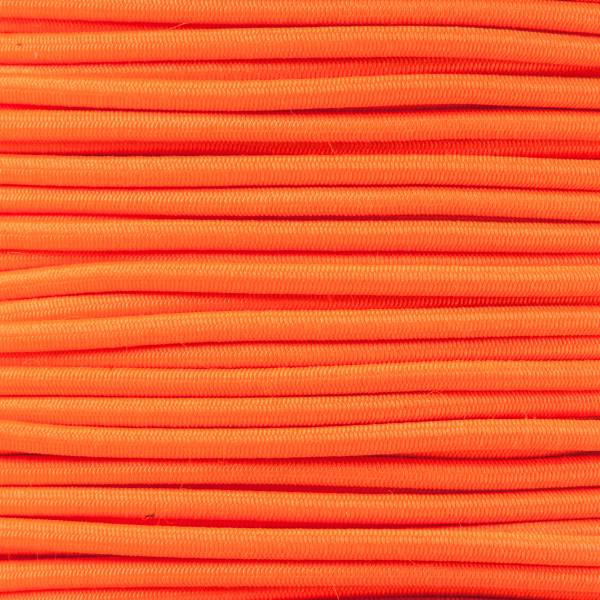 Gummikordel - Hutgummi - Rundgummi, hochwertig, extra-stark in 2mm, neonorange