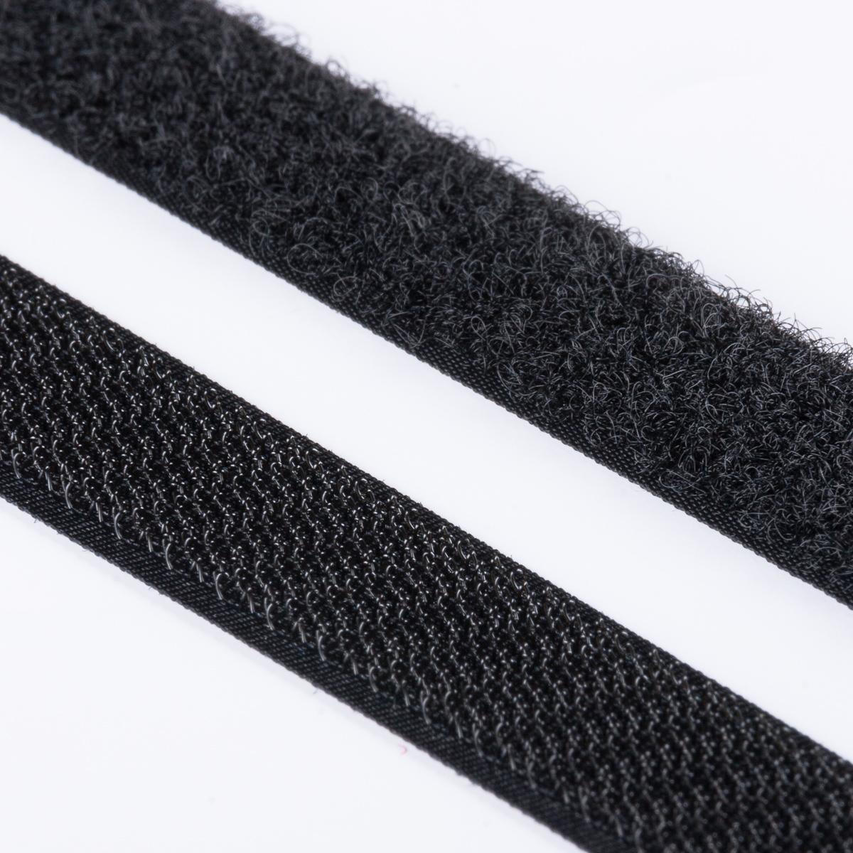 klettband haken flausch hochwertig zum aufn hen 20mm schwarz klett zum aufn hen klettband. Black Bedroom Furniture Sets. Home Design Ideas
