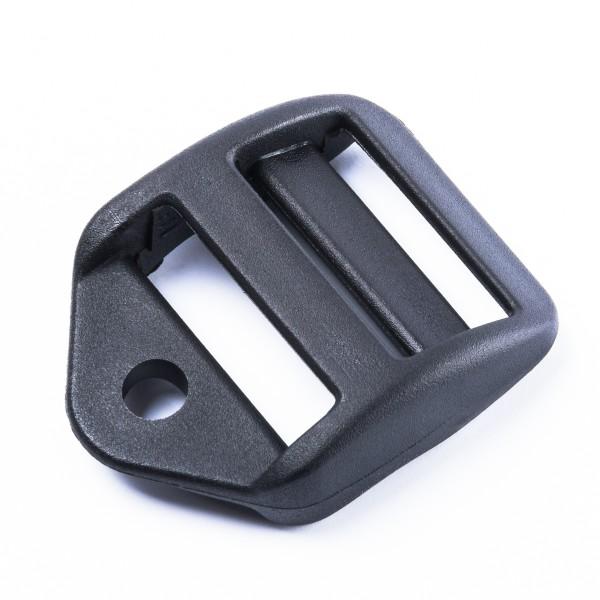 """Stabile Leiterschnalle """"CF/6"""" mit Loch für Band/Kordel für 25mm Gurte"""