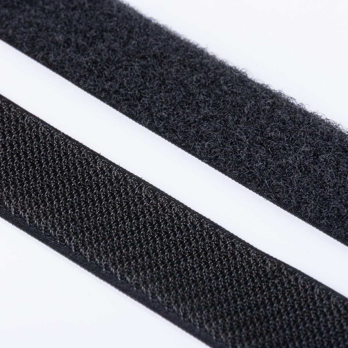 klettband haken flausch hochwertig zum aufn hen 30mm schwarz klett zum aufn hen klettband. Black Bedroom Furniture Sets. Home Design Ideas