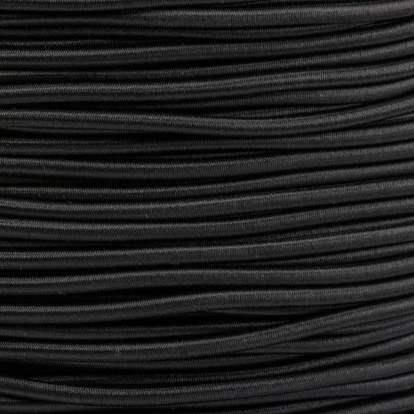 Gummikordel - Hutgummi - Rundgummi, hochwertig, extra-stark in 2,5mm, schwarz