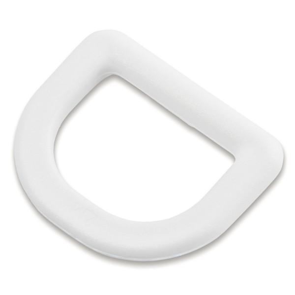 """Stabiler D-Ring """"Classic DR"""" aus Nylon, Kunststoff für 25mm Gurtband, weiß"""