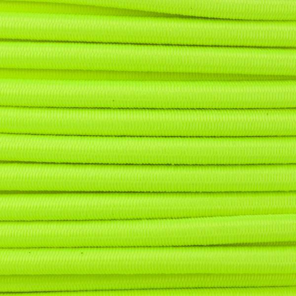 Gummikordel - Hutgummi - Rundgummi, hochwertig, extra-stark in 4mm, neongelb