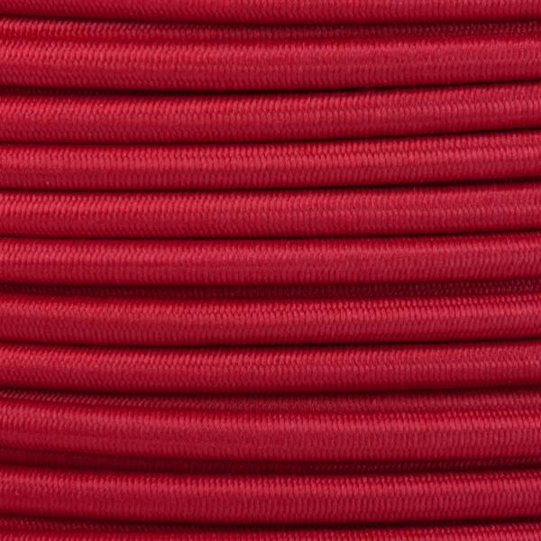 Gummikordel - Hutgummi - Rundgummi, hochwertig, extra-stark in 4mm, rot