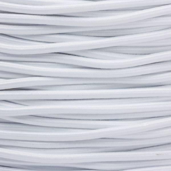 Gummikordel - Hutgummi - Rundgummi, hochwertig, extra-stark in 2,5mm, weiß
