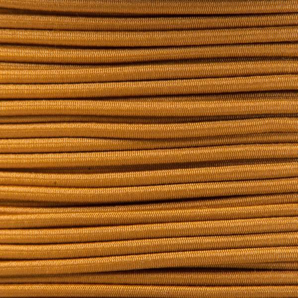 Gummikordel - Hutgummi - Rundgummi, hochwertig, extra-stark in 2mm, goldbraun