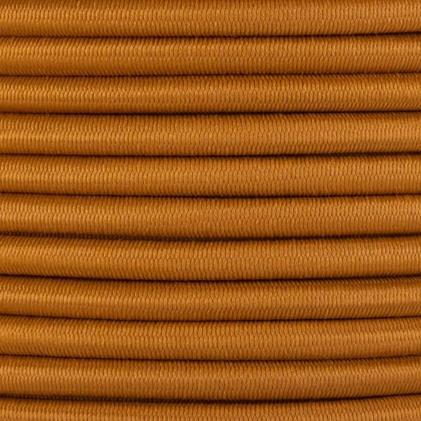 Gummikordel - Hutgummi - Rundgummi, hochwertig, extra-stark in 5mm, goldbraun