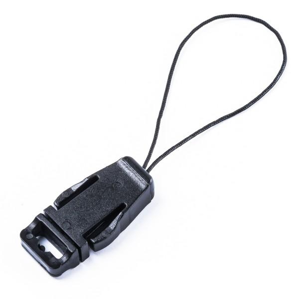 """USB-Schlaufe mit Clip """"LCP"""" für Handy, USB-Sticks usw. für 10mm-Band"""