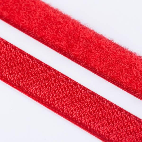 Klettband Haken+Flausch , hochwertig zum Aufnähen 20mm rot