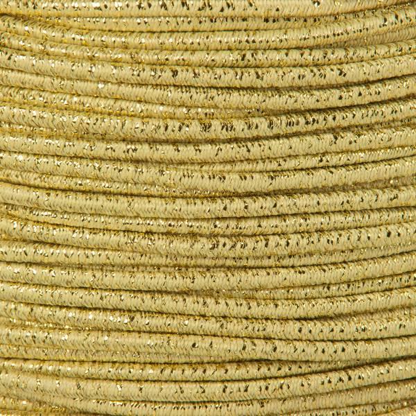 Gummikordel - Hutgummi - Rundgummi, hochwertig, extra-stark in 2mm, gold