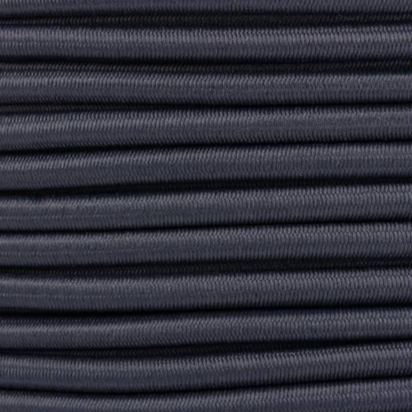 Gummikordel - Hutgummi - Rundgummi, hochwertig, extra-stark in 4mm, dunkelgrau