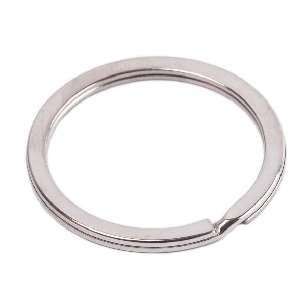Flacher Schlüsselring aus Stahl, verchromt 30mm Innen - 3mm stark