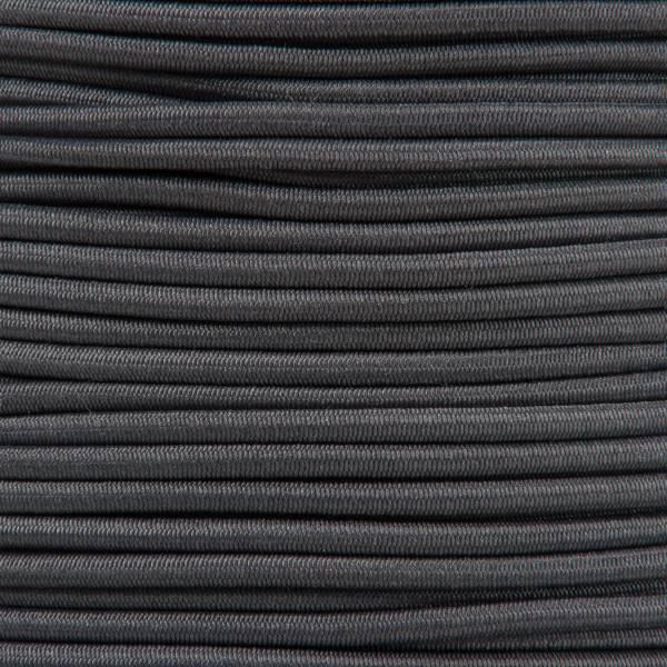 Gummikordel - Hutgummi - Rundgummi, hochwertig, extra-stark in 2mm, dunkelgrau