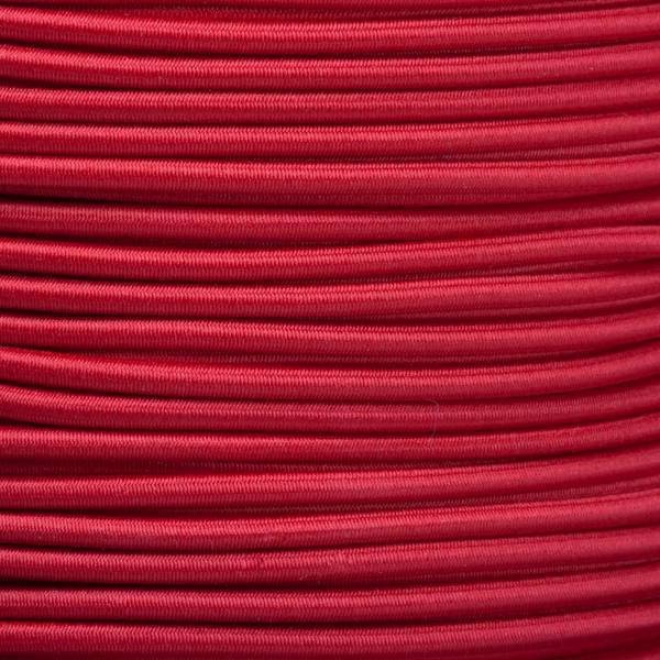 Gummikordel - Hutgummi - Rundgummi, hochwertig, extra-stark in 3mm, rot
