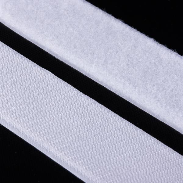 Klettband Haken+Flausch , hochwertig zum Aufnähen 50mm weiß