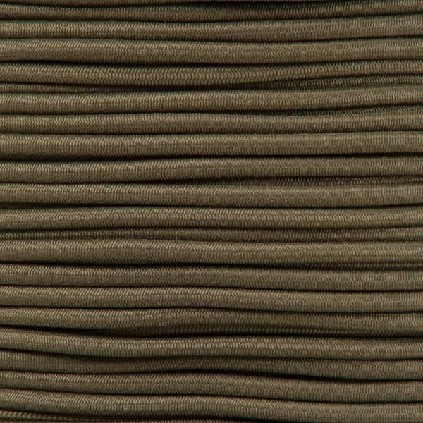 Gummikordel - Hutgummi - Rundgummi, hochwertig, extra-stark in 2mm, khaki