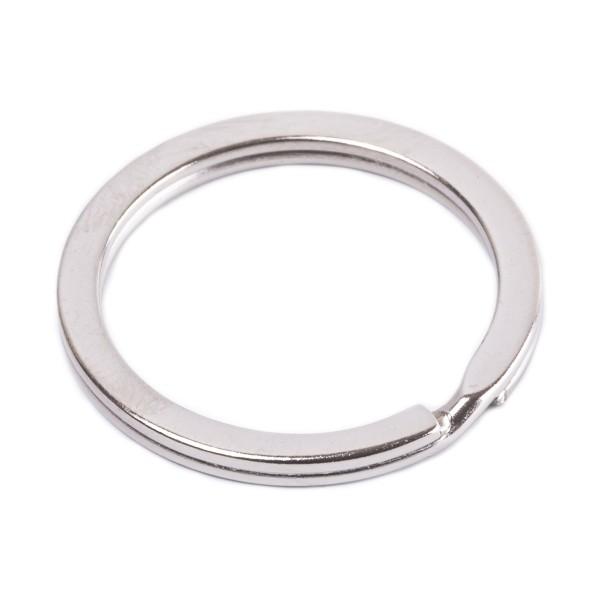 Flacher Schlüsselring aus Stahl, verchromt 20mm Innen - 3mm stark