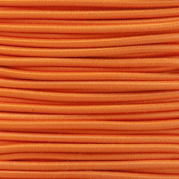 Gummikordel - Hutgummi - Rundgummi, hochwertig, extra-stark in 2mm, orange