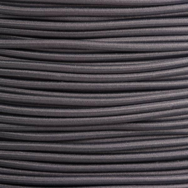 Gummikordel - Hutgummi - Rundgummi, hochwertig, extra-stark in 3mm, dunkelgrau