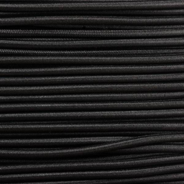 Gummikordel - Hutgummi - Rundgummi, hochwertig, extra-stark in 2mm, schwarz