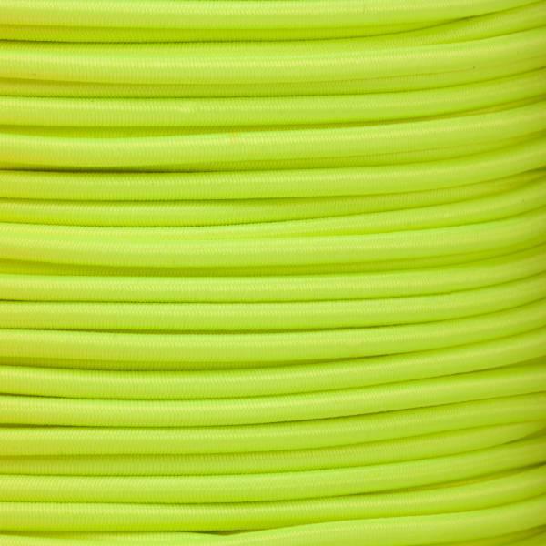 Gummikordel - Hutgummi - Rundgummi, hochwertig, extra-stark in 3mm, neongelb