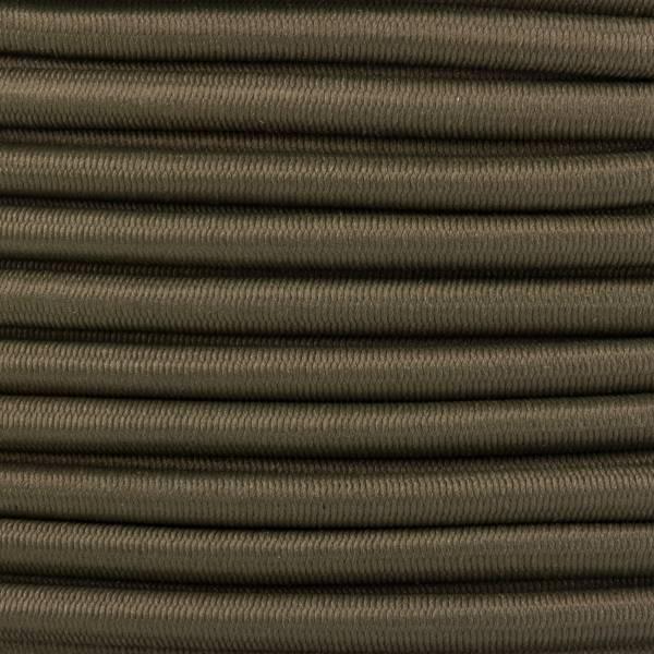 Gummikordel - Hutgummi - Rundgummi, hochwertig, extra-stark in 4mm, khaki